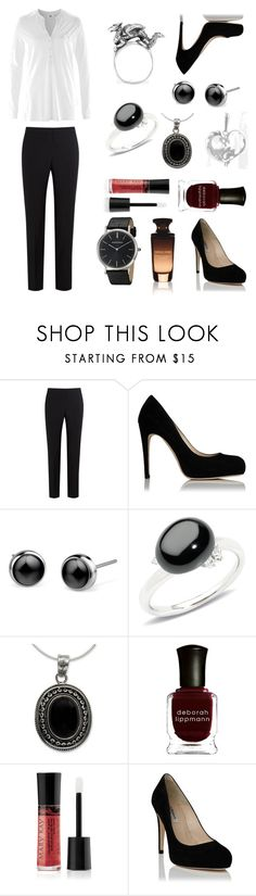 """""""Classic"""" by alicecure ❤ liked on Polyvore featuring Paul Smith, Pomellato, NOVICA, Deborah Lippmann, Mary Kay, classic, white and black"""