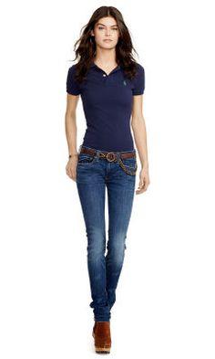 Skinny-Fit Polo Shirt - Polo Ralph Lauren Polos - RalphLauren.com