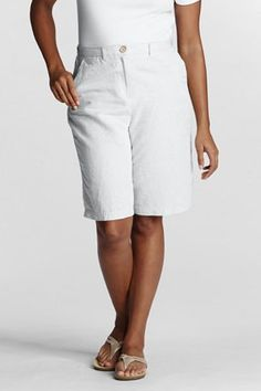 Cotton Linen Shorts - in white, stone, and navy