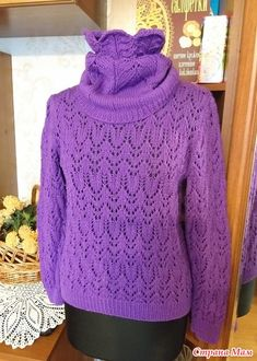 Пуловер и снуд фиолетового цвета - Вязание - Страна Мам Drops Design, Knitting Projects, Diy And Crafts, Knit Crochet, Turtle Neck, Sweaters, Fashion, Tutorials, Moda