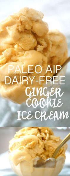 Ginger Cookie Ice Cream made with coconut milk and sweet potatoes! AIP PALEO VEGAN |     Grazed & Enthused