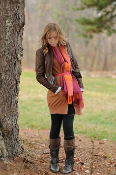 loved that she belted the scarf