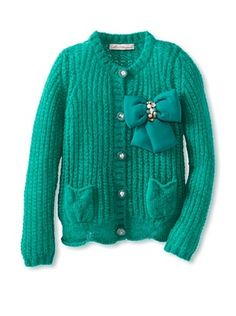 50% OFF Blumarine Girl's Knit Cardigan with Bow