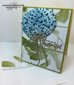 Stamps-N-Lingers.  Thoughtful Branches stamp set, Beautiful Branches Thinlits.  Serene Scenery DSP Stack. https://stampsnlingers.com/2016/07/16/stampin-up-thoughtful-branches-hydrangea/