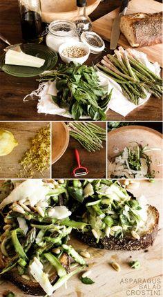 Asparagus Salad Crostini recipe