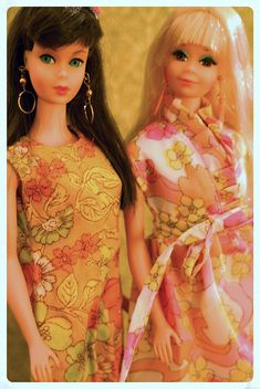 Vintage Barbies - Mod Era Twist n' Turn Barbie and PJ