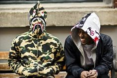 """Here's a definitive guide to the history, hype and hysteria of one of streetwear's first true """"lifestyle brands"""" – A Bathing Ape, aka BAPE. Cool Hoodies, Bape Outfits, Cool Outfits, Tiger Hoodie, Bape Shark, Japanese Fashion Designers, Future Clothes, A Bathing Ape, Outfit"""