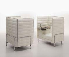 Design sofa by Ronan & Erwan Bouroullec - ALCOVE HIGHBACK WORK - VITRA HOME