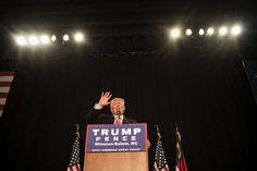 Donald J. Trump at a campaign event in North Carolina on Monday.