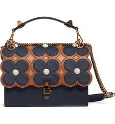 07f3c4ce16 Fendi Kan I Liberty Flower Leather Shoulder Bag | Nordstrom