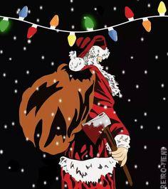 ... Little Christmas, Christmas Art, Ugly Xmas Sweater, Xmas Sweaters, Creepy, Scary, Bad Santa, Silent Night, Yule