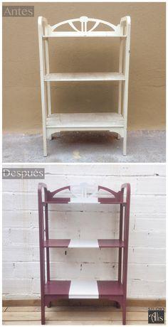Estantería renovada y pintada. Studio Alis - Barcelona