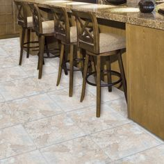 Shop Style Selections 12-in x 12-in Beige Stone Peel-And-Stick Slate Finish Vinyl Tile at Lowes.com