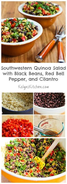 This Southwestern Quinoa Salad with Black Beans, Red Bell Pepper, and Cilantro dressing used here.