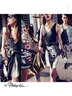 3.1 Phillip Lim Spring 2013  Franzi Mueller and Katryn Kruger photographed by Alessio Bolzoni.   Photos courtesy of 3.1 Phillip Lim  View Thumbnails / S E A