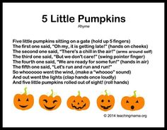five little pumpkins halloween poems quotation marks and examples - Halloween Songs For Preschoolers