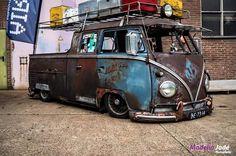 Classic Car News Pics And Videos From Around The World Volkswagen Bus, Vw T1, Vw Doka, Kombi Pick Up, Combi T1, Combi Split, Vw Pickup, Rat Look, Cool Trucks