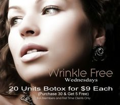 Salt Lake City Botox Sale. 20 Units of botox for $9 each. Purchase 30 and get 5 free.