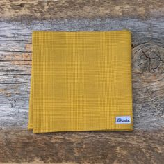 Yellow Pocket Square. Mens Fall Fashion. Mens Vintage Clothing. Simple Pocket Square. Office Accessory. Mens Fall Trend. Wedding Accessory by BrinkoTies on Etsy