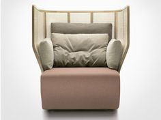 Upholstered high-back guest chair XISTERA | High-back armchair - Bosc