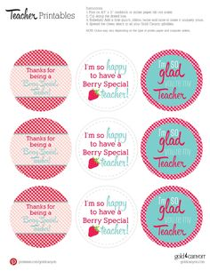 It takes a big heart to help shape little minds. Show your little one's teacher you appreciate all they do with these free gift tag printables!