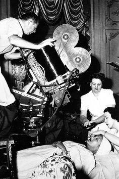 "Gloria Swanson en el rodaje de ""Sunset Bulevard"" de Billi Wilder (1950)"
