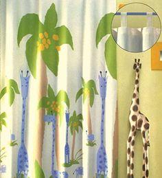 Bella tenda per decorazione della cameretta dei bambini, Safari, 260 x 140 cm, facilmente accorciabile - oscurante - giraffa e palma, di alta qualità,pronta per l'uso, Tenda tupo 245 heimtexland http://www.amazon.it/dp/B00YTY3P5K/ref=cm_sw_r_pi_dp_EtItwb1XCF5T6