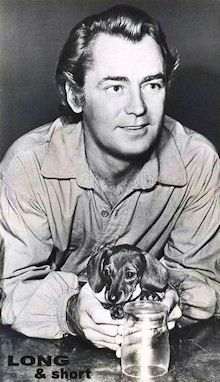 Alan Ladd and his Dachshund, Fritzie II | Flickr - Photo Sharing!