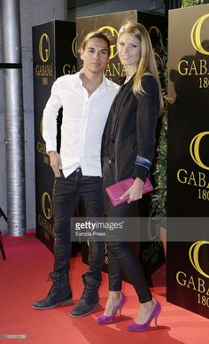 Julio Jose Iglesias and Charisse Verhaert attend their stag party on November 1, 2012 in Madrid, Spain.