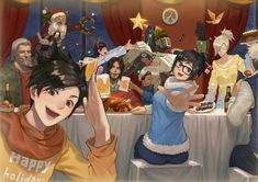 seasons greetings - from overwatch! Overwatch Bastion, Overwatch Comic, Overwatch Memes, Overwatch Fan Art, Overwatch Drawings, Soldier 76, V Games, Character Design Animation, Character Art