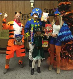 Halloween cereal box characters, Tucan Sam, Tony the Tiger, captain crunch, lucky charms