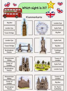"Ideenreise: Klammerkarten ""Sights of London"""