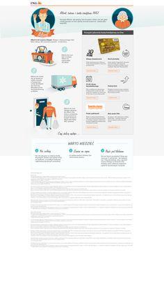 Sprytny Albert - cykl landing page dla ING Banku Śląskiego