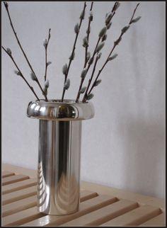 """ KASVU "" vase, designed by Tapio Wirkkala. Made of sterling silver."