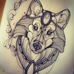Sweet wolf #wolf #berlin mi mancano solo altri 7 disegni :(