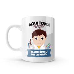 Mug - Aquí toma el mejor bacteriólogo del universo, encuentra este producto en nuestra tienda online y personalízalo con un nombre o mensaje. Chocolate Caliente, Snoopy, Mugs, Tableware, Character, Social, Art, Dietitian, Occupational Therapist