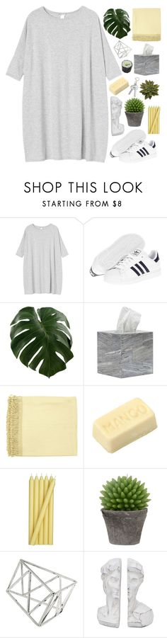 """island in the sun"" by astrologykiller ❤ liked on Polyvore featuring Monki, adidas, Pigeon & Poodle, Surya, Crate and Barrel, Broste Copenhagen and Topshop"