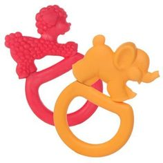 Two Vanilla Teething Rings - Pink Poodle/Orange Elephant by Vulli. $10.26. These teething rings are made of a soft and chewy deliciously vanilla-scented material that baby will love biting. Made in France. BPA, Phthalates Free.