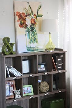 House Tour: A New Bookshelf for our Urban Cottage Living Room