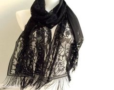 Image result for lace black wrap shawl