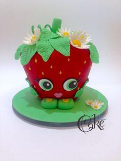 Shopkins custom designed Strawberry Crush cake by I Luv Cake