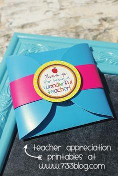 Teacher Appreciation {Free Printable} by Eliza Neo Cute Teacher Gifts, Teacher Treats, Dance Teacher Gifts, School Treats, School Gifts, Your Teacher, School Teacher, School Stuff, Teachers Week