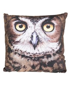 This Horned Owl Throw Pillow is perfect! Owls are good luck get a few of these pillows