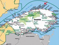 Carte de la gaspésie - Blog de chaletste-anne-des-monts Parc National, East Coast, The Good Place, Vacation, World, Places, Travel, Packaging Ideas, Bucket Lists