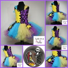 Sally - Nightmare Before Christmas Inspired Tutu Dress for Halloween Visit www.facebook.com/LuluinaTutu for more information or designs