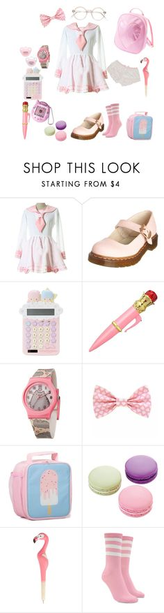 """""""Innocent"""" by princessmiffy ❤ liked on Polyvore featuring Dr. Martens, Pusheen, Ladurée, Sass & Belle and Forever 21"""