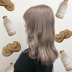 Blonde Hair Korean, Korean Hair Color, Korean Hair Dye, Hair Color Streaks, Hair Dye Colors, Beige Hair, Ash Hair, Pretty Hair Color, Hair Upstyles