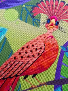 It's not your Grandmother's Needlepoint: Wow, the stitches.