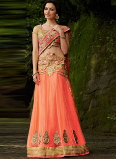 Beautiful Net Lehenga Style Party Wear Saree