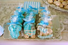 Cookies at a Vintage Toys Baby Shower #vintagetoys #babyshowercookies
